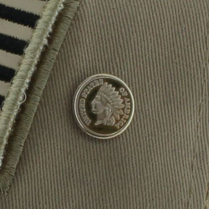 Indian Head Cent Design .999 Pure Silver 1 Gram Pin By Barter Wear