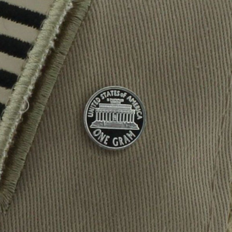 Lincoln Memorial .999 Pure Silver 1 Gram Pin By Barter Wear
