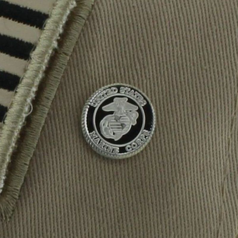 Marine Corps .999 Pure Silver 1 Gram Pin By Barter Wear