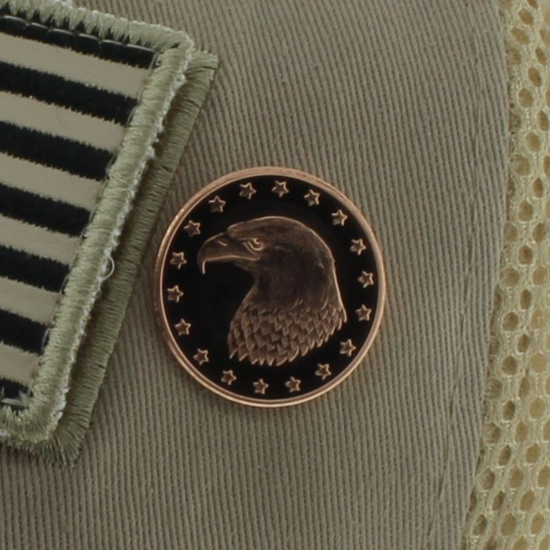Bald Eagle .999 Pure Copper 1/4 Oz. Pin By Barter Wear