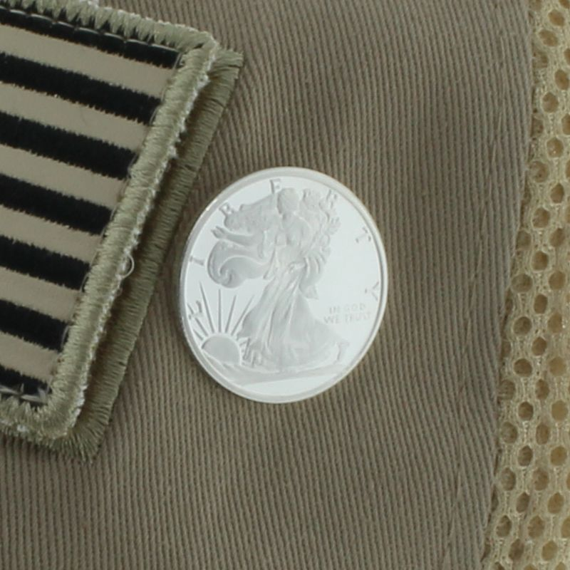 Walking Liberty .999 Pure Silver 1/4 Oz. Pin By Barter Wear