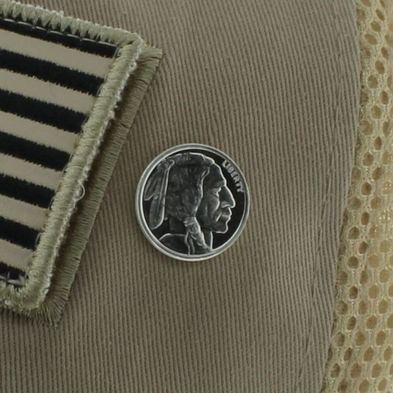 Buffalo Nickel Design .999 Pure Silver 1/10 Oz. Pin By Barter Wear
