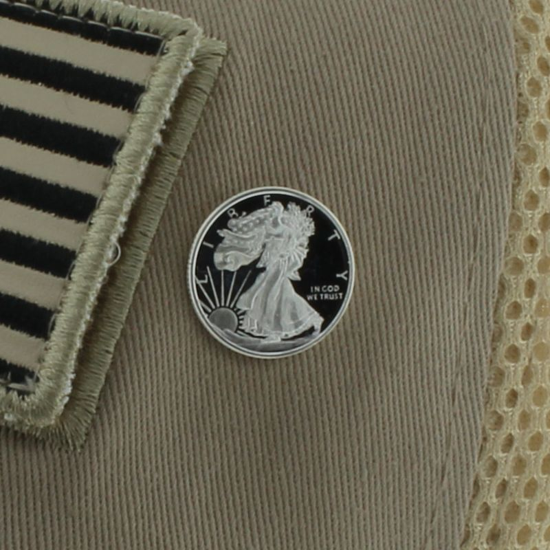 Walking Liberty .999 Pure Silver 1/10 Oz. Pin By Barter Wear