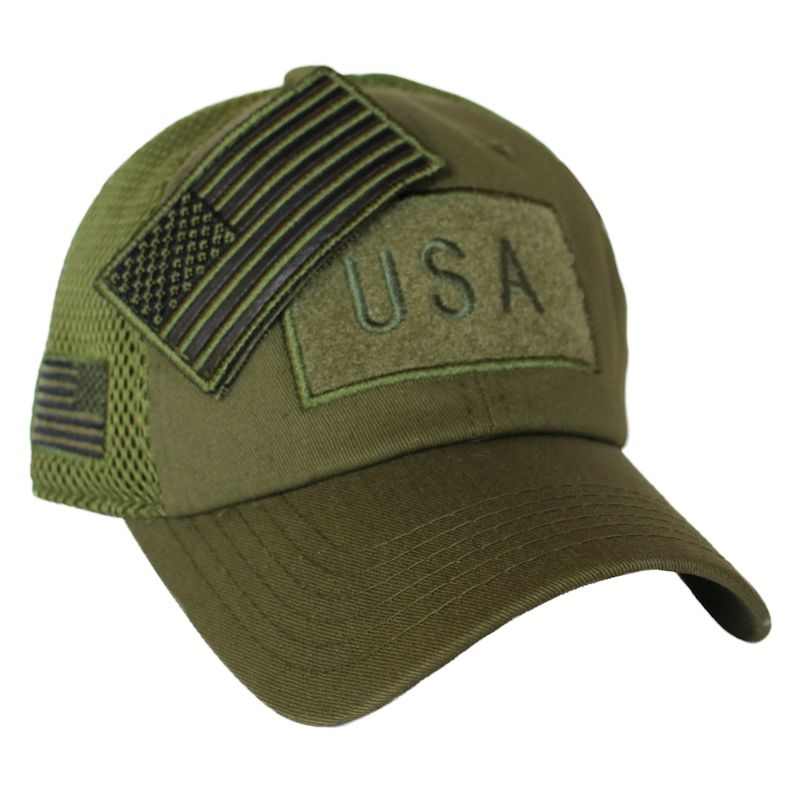 Olive Drab American Flag Velcro Patch Hat -  15.00   Jig Pro Shop ... 6ad74b4bb
