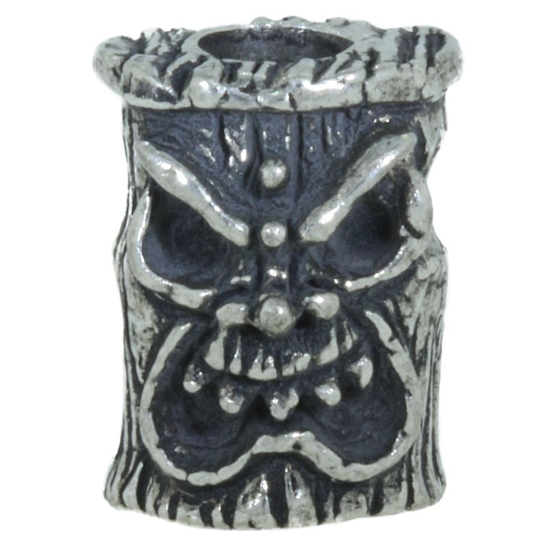 Ona Tiki Bead in Pewter by Schmuckatelli Co.