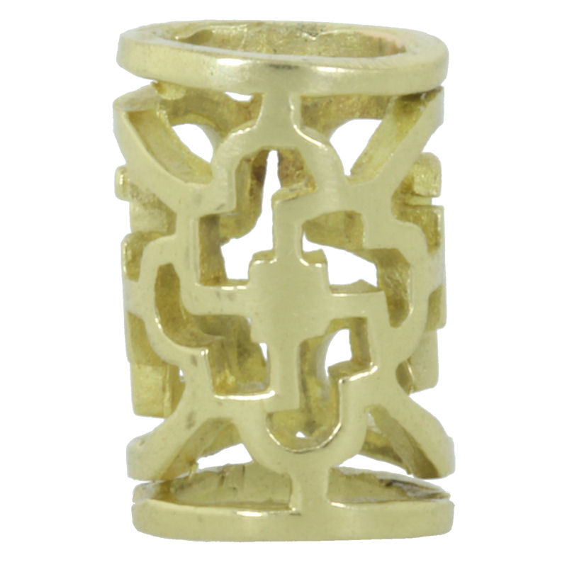 Ornamental Tube Spacer Bead in Brass by Covenant Everyday Gear