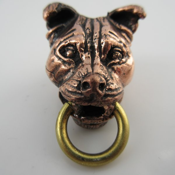 Pit Bull in Copper & Brass by Lion ARMory