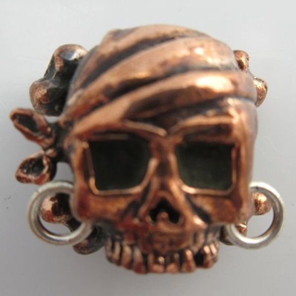 Pirate Skull in Copper & Sterling Silver by Lion ARMory