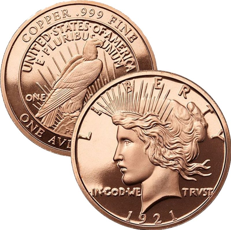 Peace Dollar (Osborne Mint) 1 oz .999 Pure Copper Round