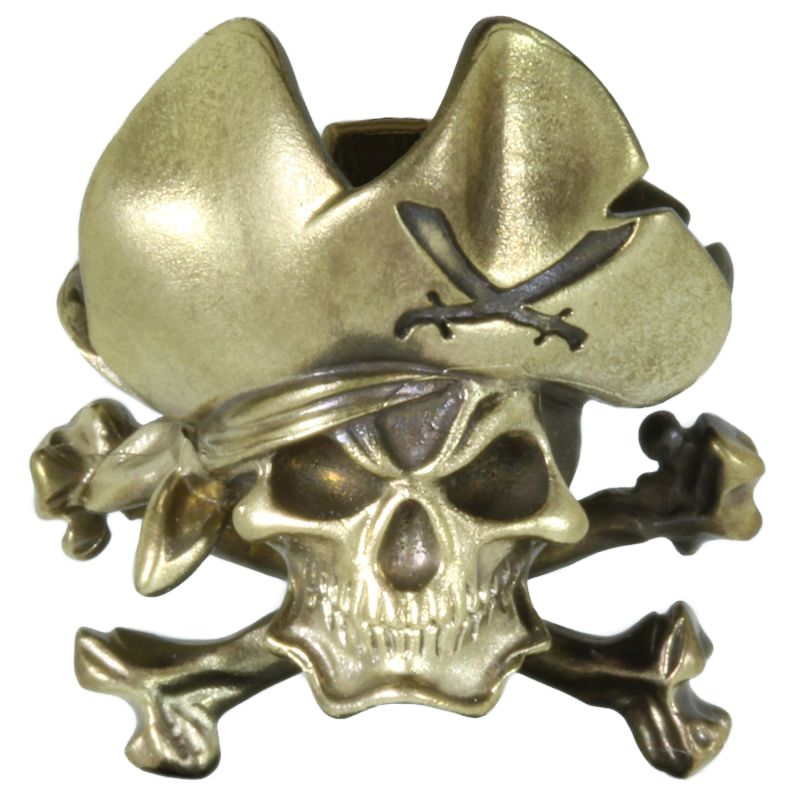 Pirate Skull In Brass By Techno Silver
