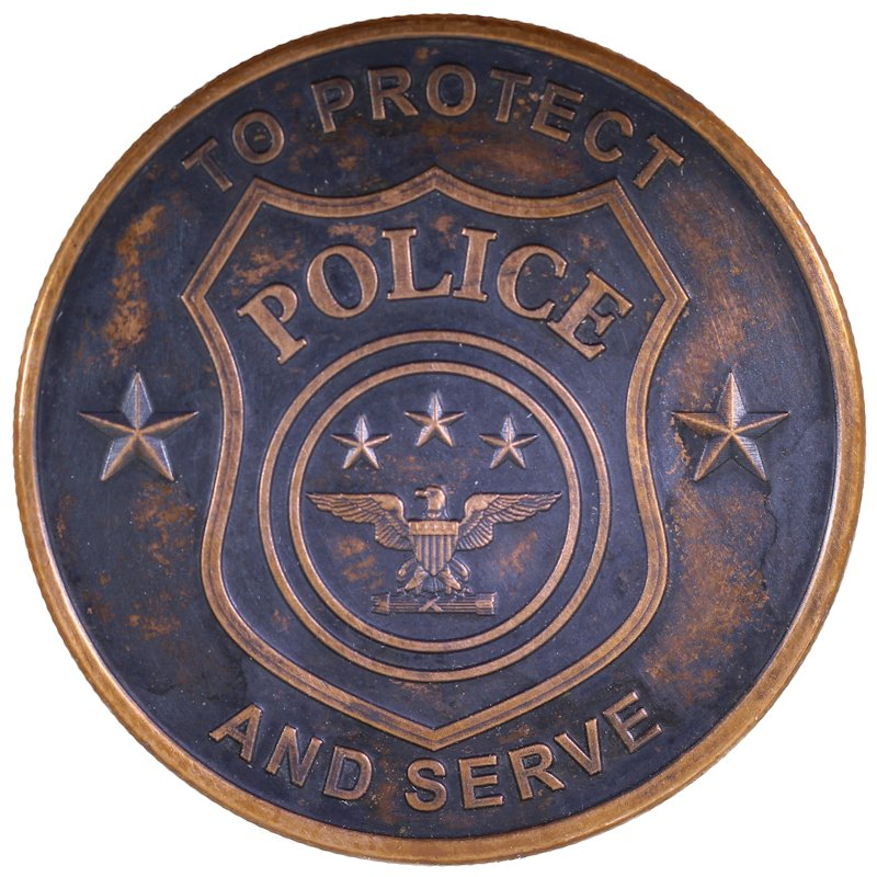 Police - To Protect and Serve 1 oz .999 Pure Copper Round (Black Patina)