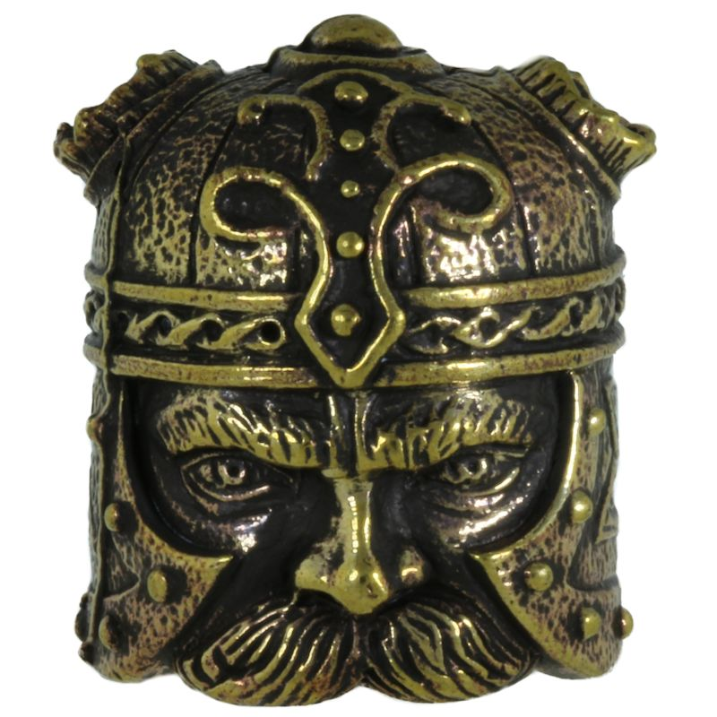 Viking Head in Brass By Alloy Army of Eurasia