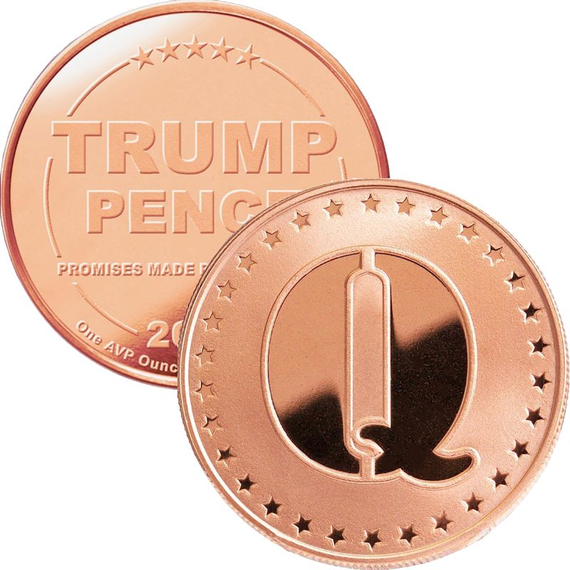 "Trump ~ ""Q"" 1 oz .999 Pure Copper Round"