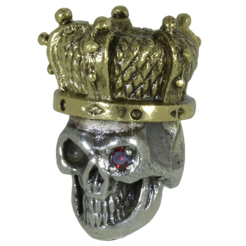 Queen of the Dead in Brass/White Brass w/Red Garnet Eye (Polished Crown) by Covenant Everyday Gear