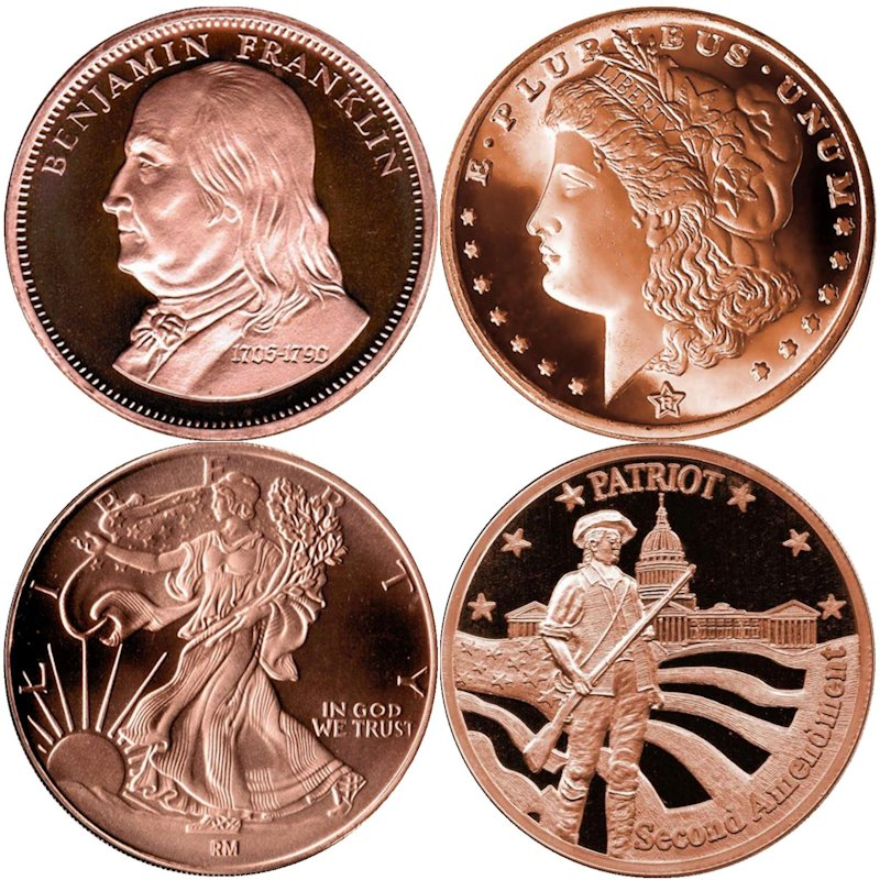 Complete Set Of All 4 QSB Mint 1 oz .999 Pure Copper Rounds