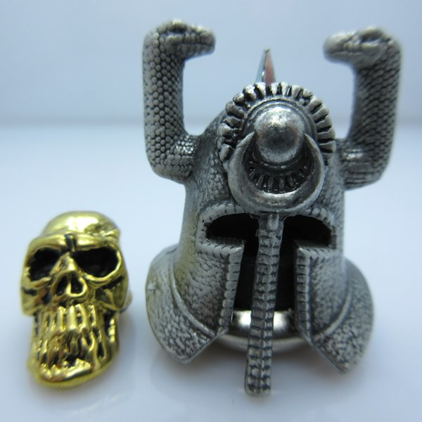 Riddle Of Steel Helmet With Thulsa Skull Silver/Gold By Bad Azz Beads