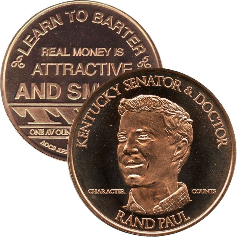 Rand Paul (AOCS) (2011) 1 oz .999 Pure Copper Round