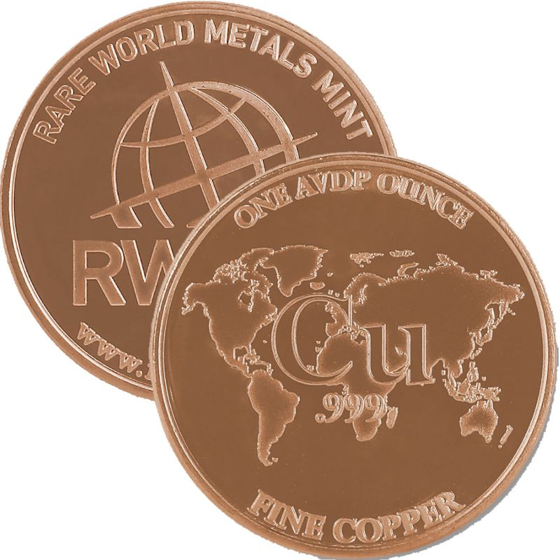 Rare World Metals - RWMM 1 oz .999 Pure Copper Round