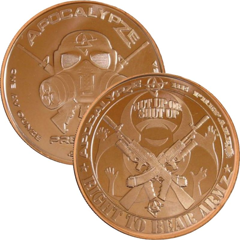Right To Bear Armz 1 oz .999 Pure Copper Round (3rd Design of the ApocalypZe Series)