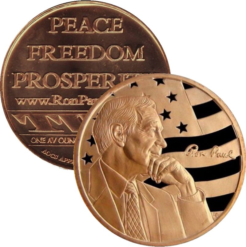 Ron Paul (AOCS) (2011) 1 oz .999 Pure Copper Round