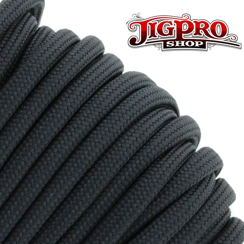 Black 550# Type III Paracord 100' S01