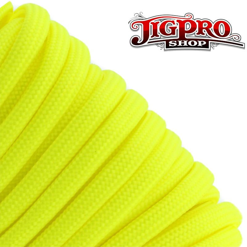 Neon Yellow 550# Type III Paracord 100\' S19