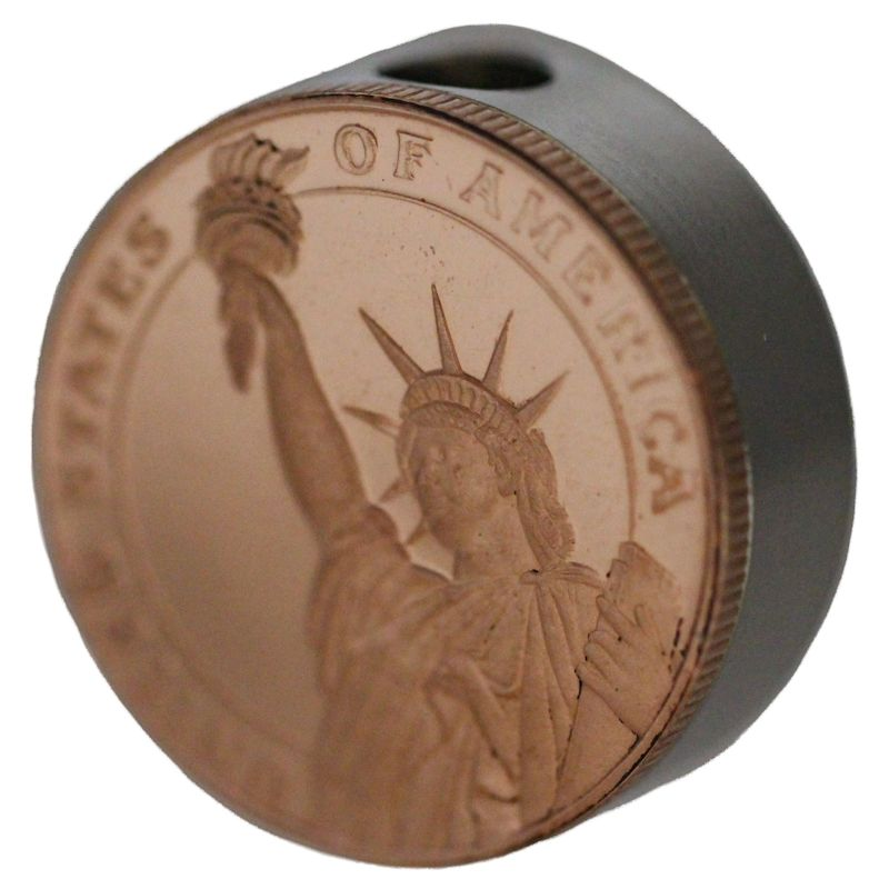 Statue Of Liberty Design (Polished Copper) Stainless Steel Core Lanyard Bead By Barter Wear