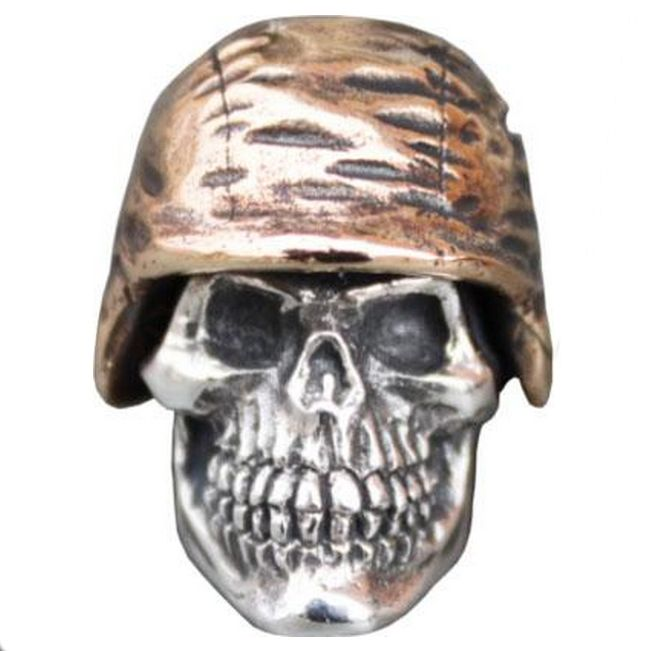 Soldier Helmet #1 in .925 Sterling Silver and Bronze by GD Skulls