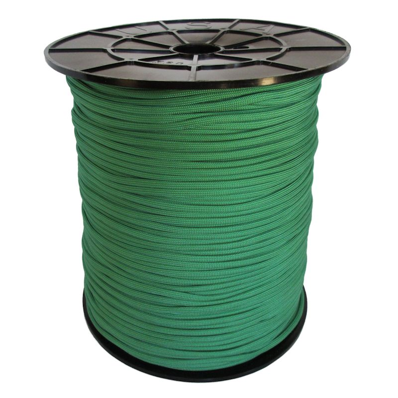 Green 550# Type III Paracord 1000' Spool SS06