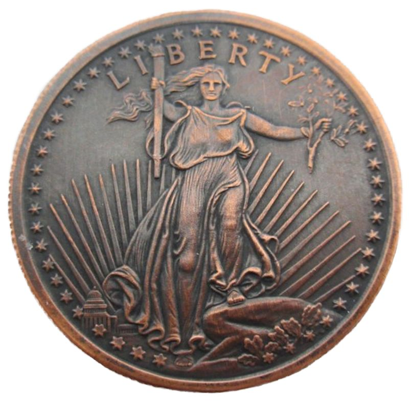 Saint Gaudens (2013) 1 oz .999 Pure Copper Round (Black Patina)