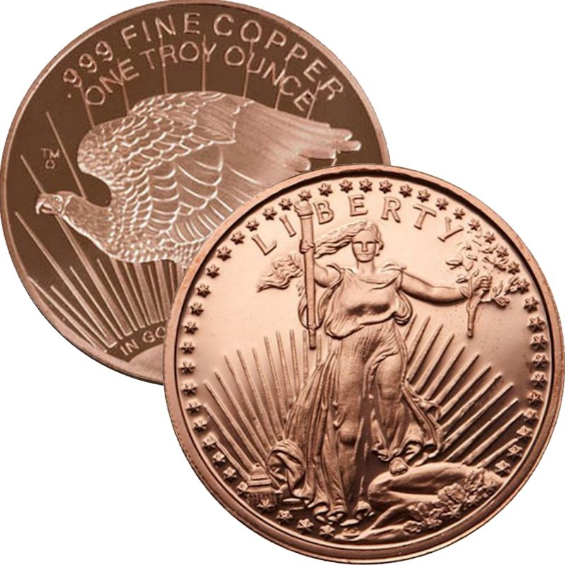 Saint Gaudens (2013) 1 oz .999 Pure Copper Round