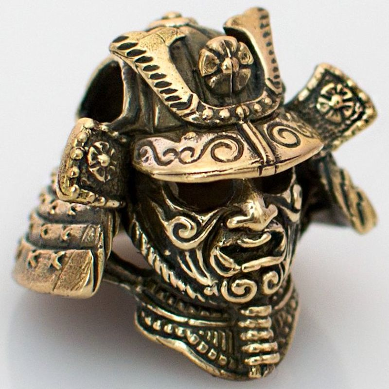 Samurai Helmet Bead in Brass by Russki Designs