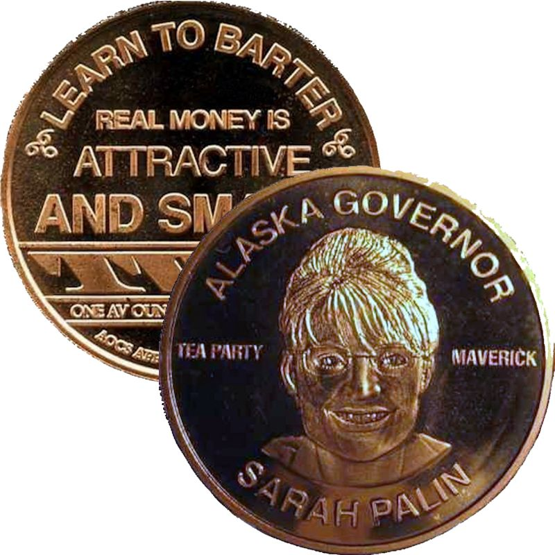 Sarah Palin (AOCS) (2011) 1 oz .999 Pure Copper Round
