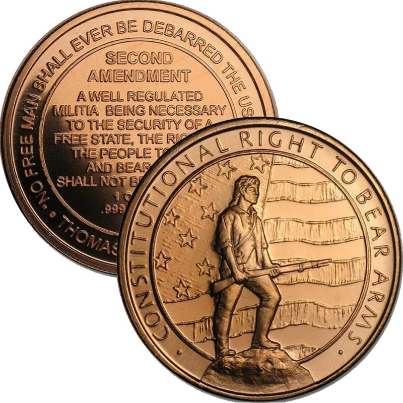 Second Amendment 1 oz .999 Pure Copper Round