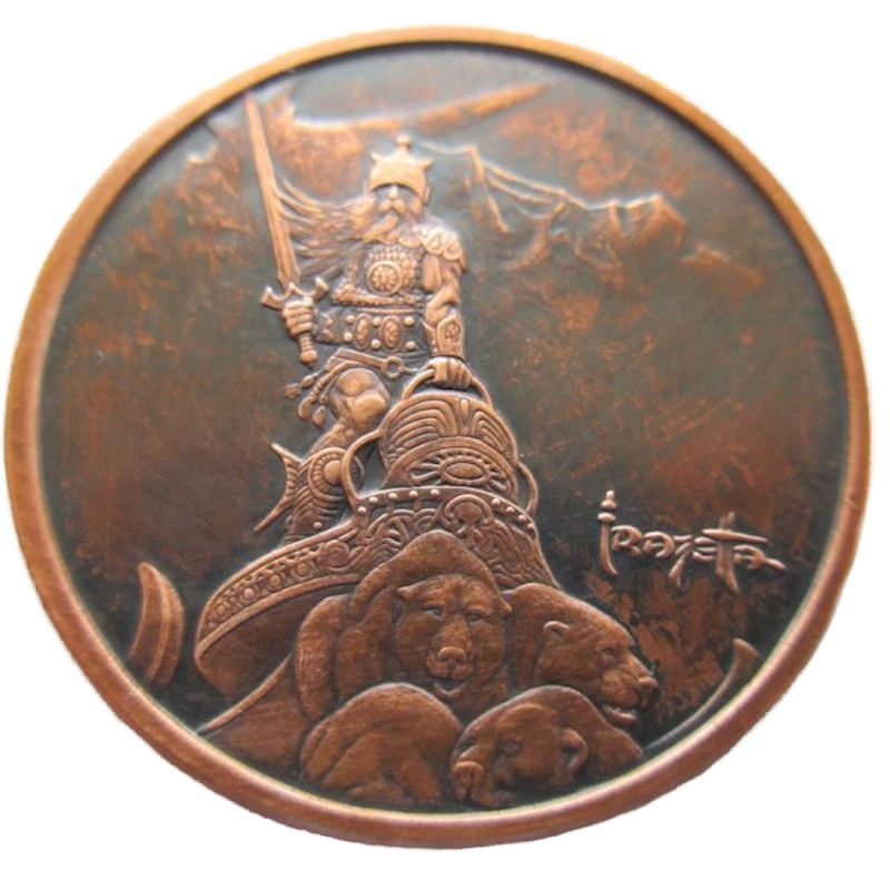 Silver Warrior 1 oz .999 Pure Copper Round (Black Patina)