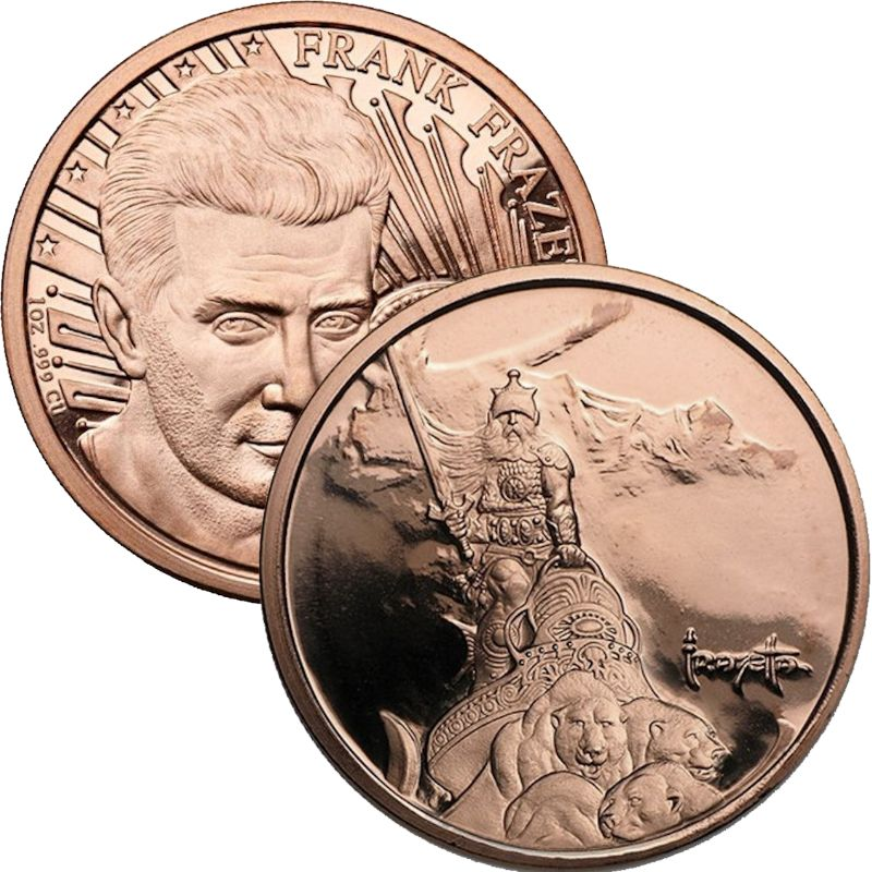 Silver Warrior 1 oz .999 Pure Copper Round