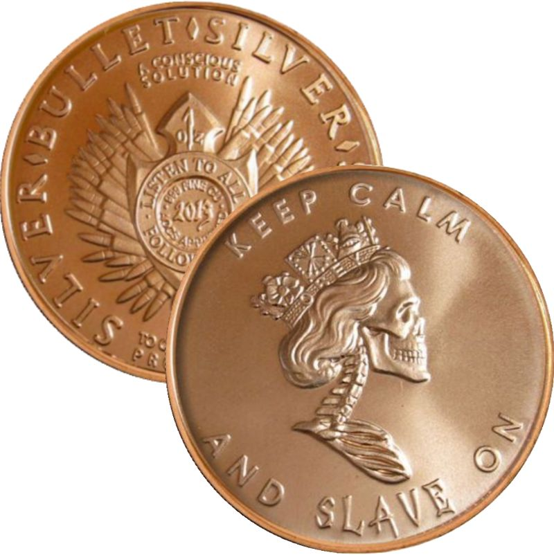 Slave Queen (AOCS) (2013) 1 oz .999 Pure Copper Round (Silver Bullet - Silver Shield)