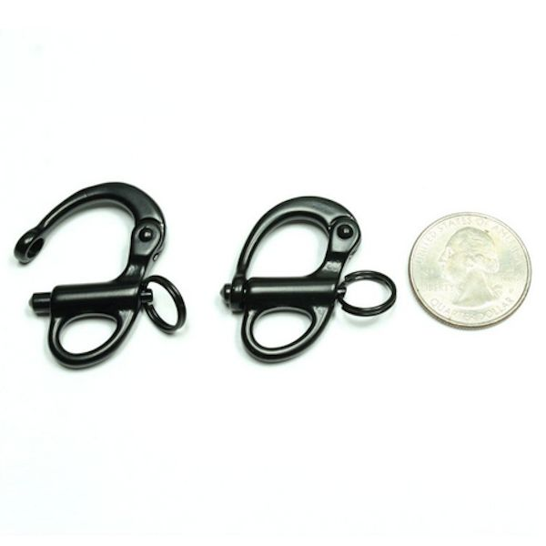 Fixed Eye Snap Shackle - Black (Stainless Steel)
