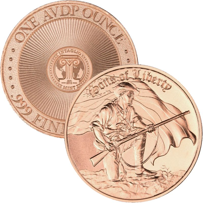 Sons Of Liberty 1 oz .999 Pure Copper Round