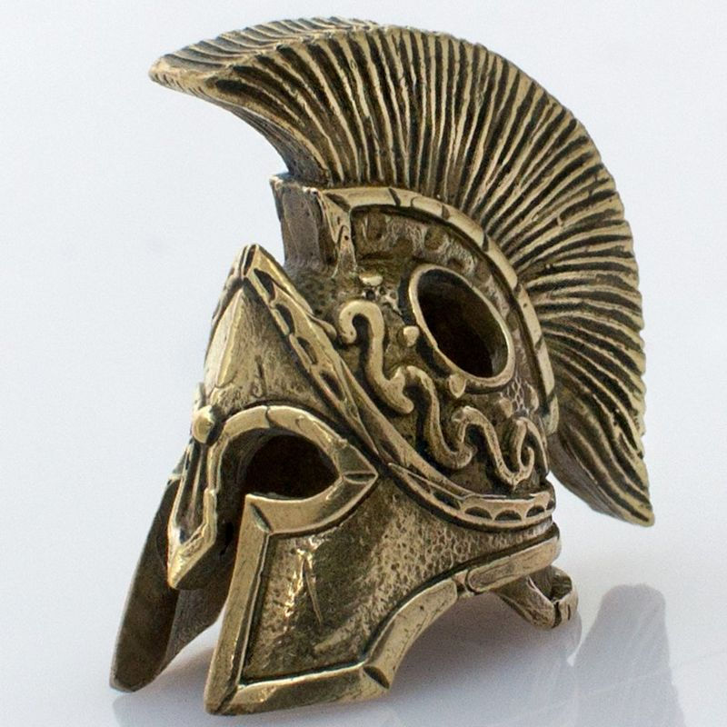 Spartan Helmet Bead in Brass by Russki Designs