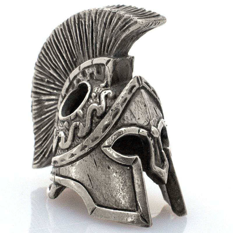 Spartan Helmet Bead in Nickel Silver by Russki Designs