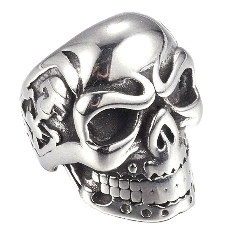 Skull Bead in SUS304 Stainless Steel (Set Of 2 Beads)