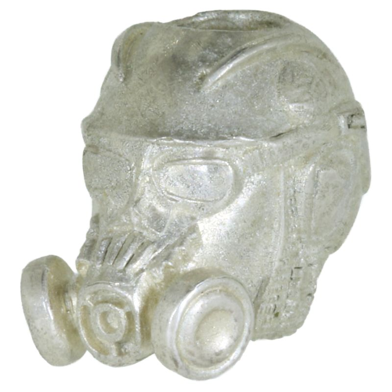 Stalker Gas Mask in Sterling Silver By Techno Silver
