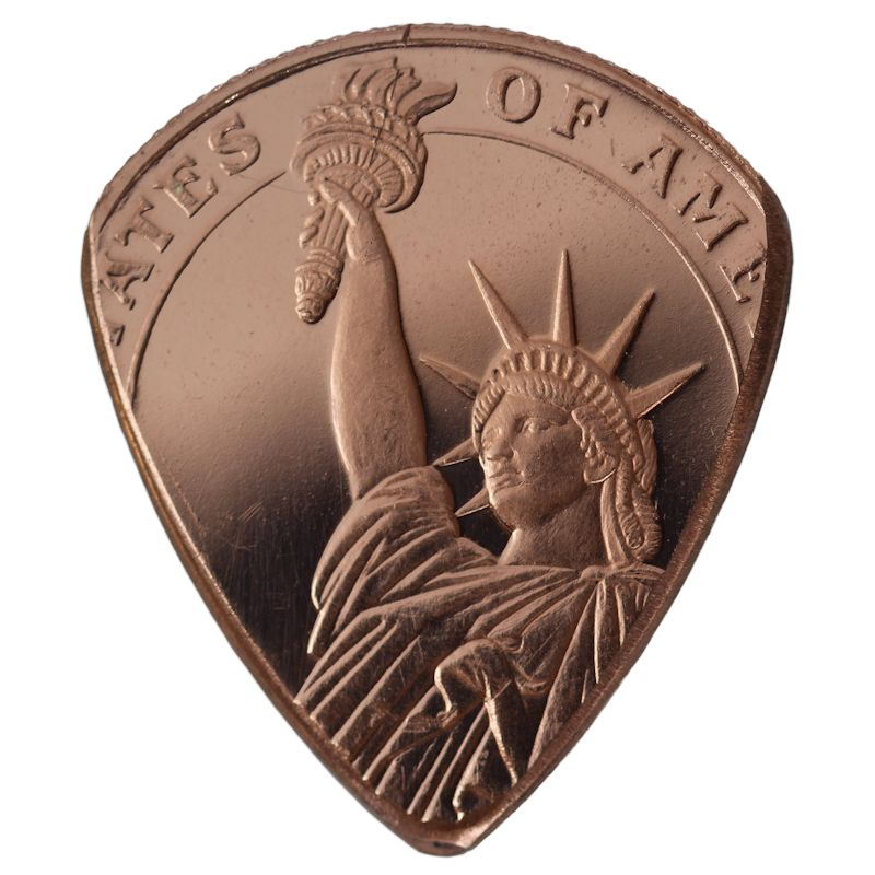 Statue Of Liberty Copper Guitar Pick