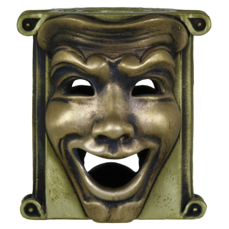 Theatrical Mask (Brass Base - Bronze Masks) By Techno Silver