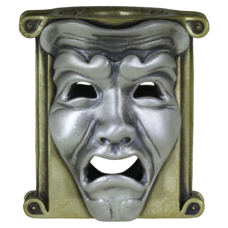 Theatrical Mask (Brass Base - .925 Sterling Silver Masks) By Techno Silver