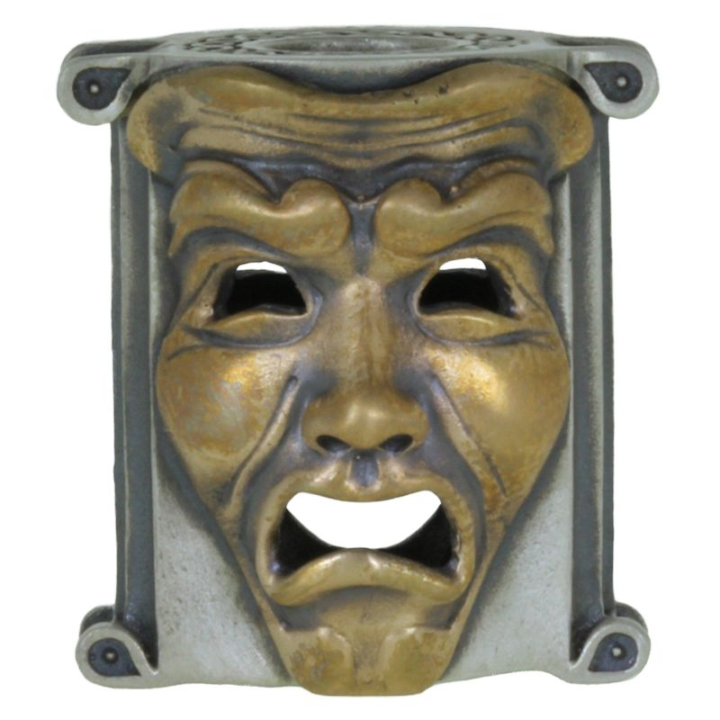 Theatrical Mask (.925 Sterling Silver Base - Bronze Masks) By Techno Silver