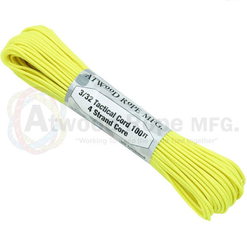 "Neon Yellow 275# Tactical Cord 3/32"" x 100' TS19"