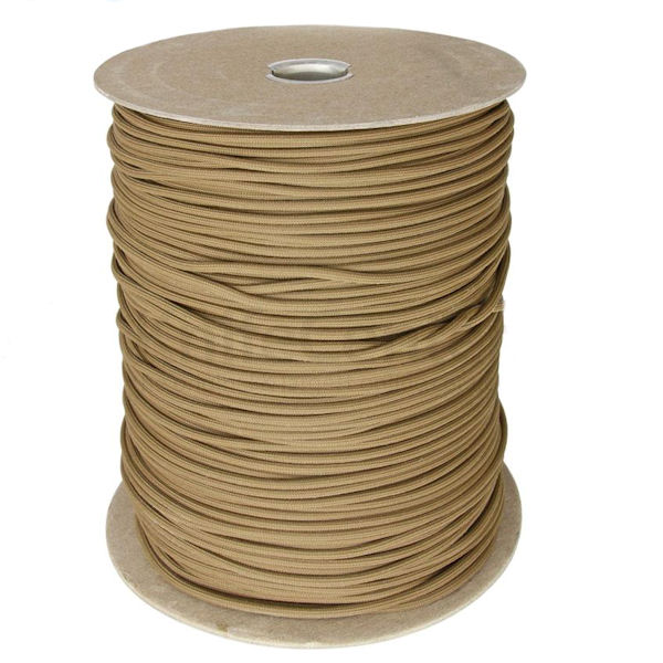 Tan 550# Type III Paracord 1000' Spool SS10