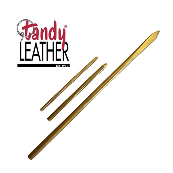 3 Different Size Tandy Leather Lacing Needles